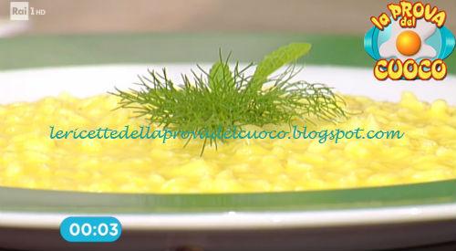 Risotto alla zucca con arancia e finocchietto ricetta Fava da Prova del Cuoco