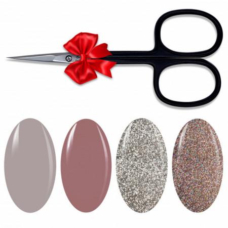 Kit 4 Geluri Color Exclusive Nails Premium Line + 1 Forfecuta cadou