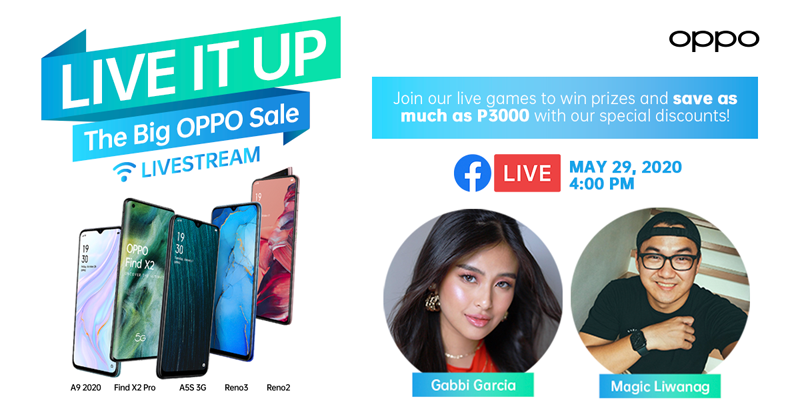 Gabbi Garcia and Magic Liwanag will join the Weekly ShOPPO Livestream on May 29