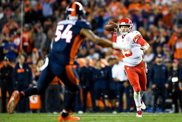 Patrick Mahomes converted a pivotal third down with a left-handed throw worst game of the season was a sight to behold.