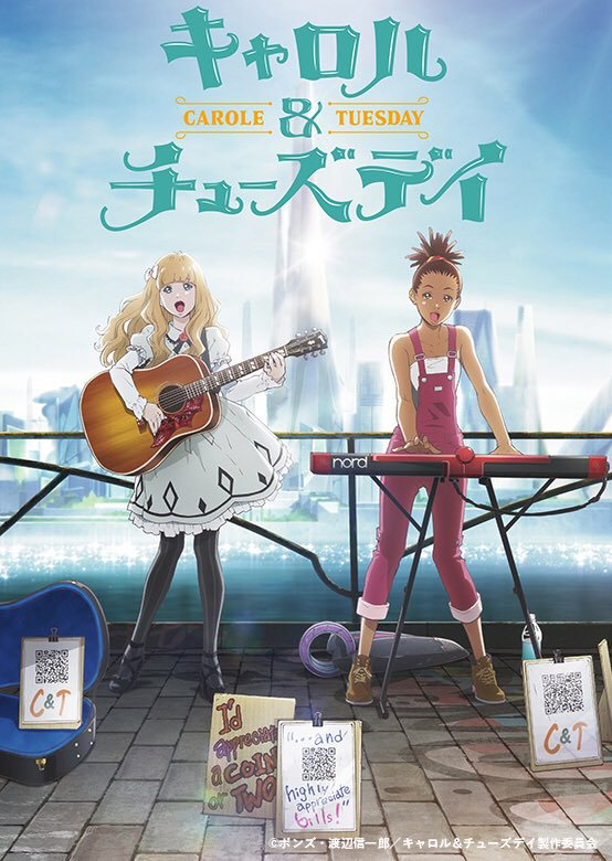 Carole and Tuesday (2019) |01/12| |Castellano/Latino/Japones+Sub. Esp| |HD Ligero 720p| |Mega|