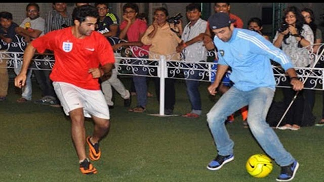 Bollywood Actors Spotted Playing Football