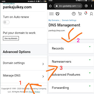 Godaddy dns setting , website kaise banate hai