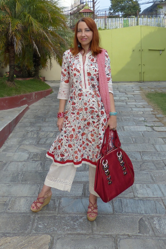 Ethnic Indian summer dress with wide trousers from Biba