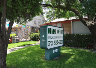 Dental Office in residential property (sign) 2202 Richmond Ave Houston, TX 77098