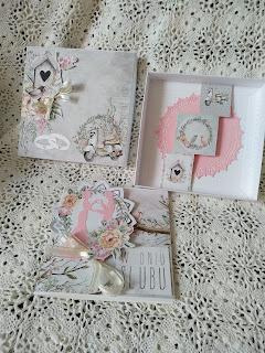 Komplet ślubny Awakening kartka i pudełko