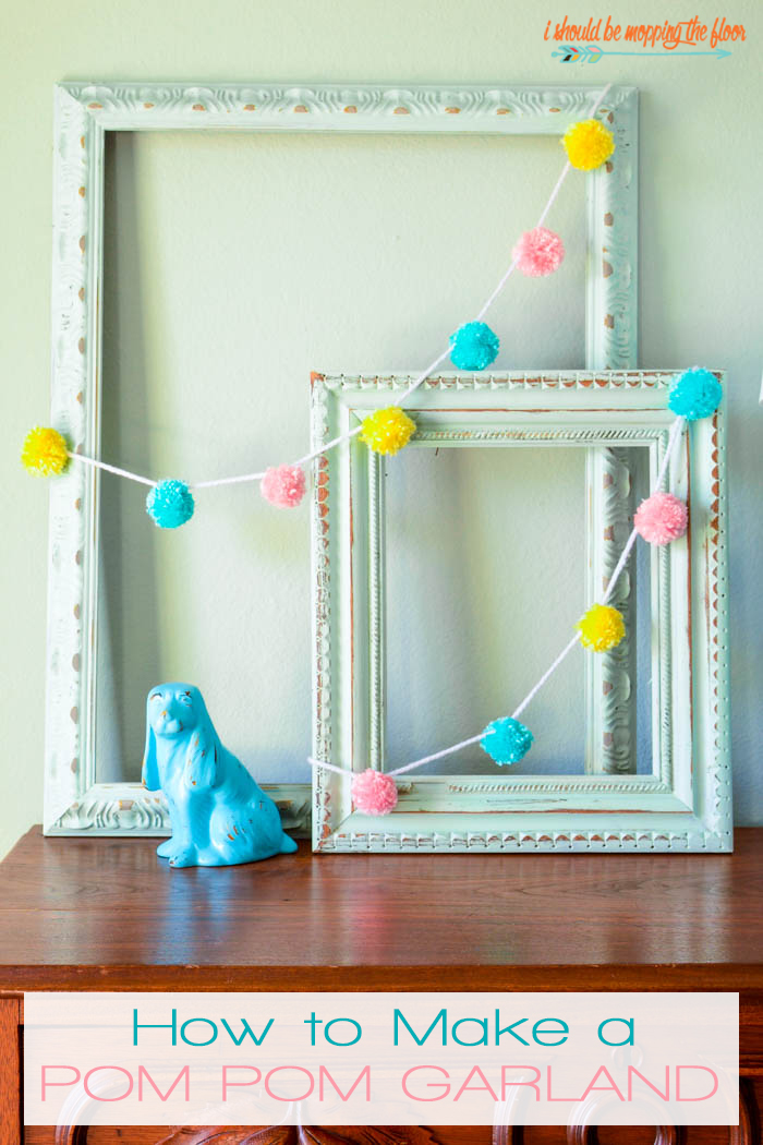 How to Make a Pom Pom Garland | Follow this easy tutorial to make a fun and fluffy yarn garland in minutes.
