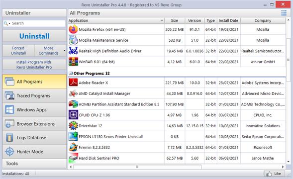 Revo Uninstaller Pro 4 Full Version Main Windows