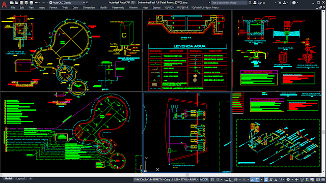 Swimming Pool Full Detail Project [DWG]