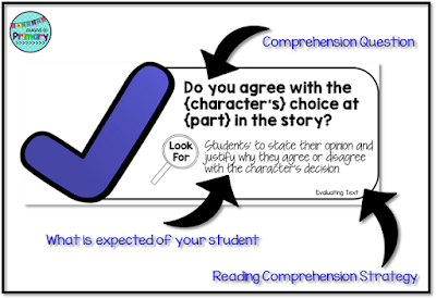 comprehension questions cards