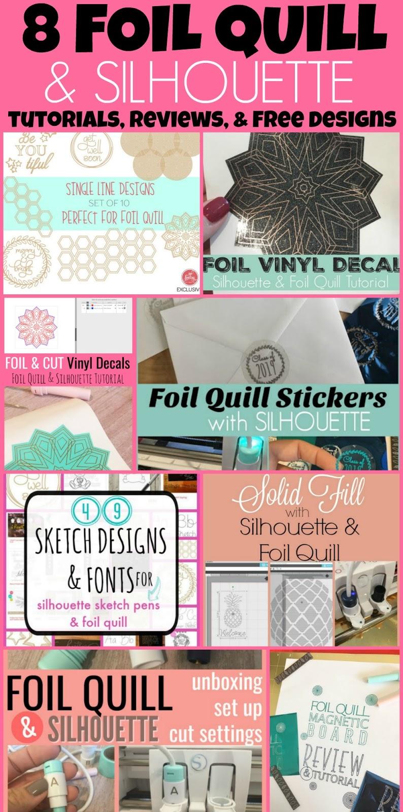 foil quill designs, foil quil, foil quill silhouette, foil quill tutorials, SVG designs