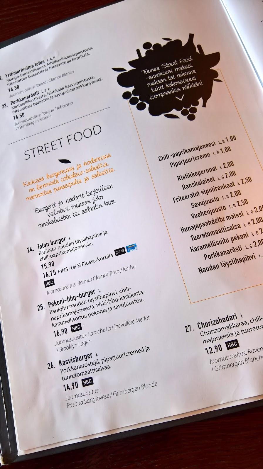 mallaspullan hampurilaistesti jyväskylä hampurilainen huviretki menu