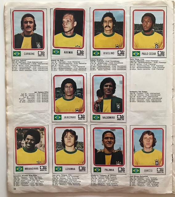Figurine Mondiali Brasile Monaco 74