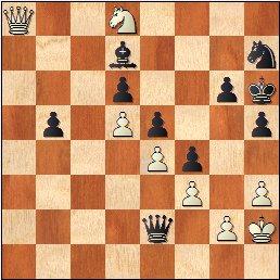 Torneo Nacional de Madrid 1941, partida de ajedrez Rey Ardid - Fuentes, posición después de 62...Dxe2