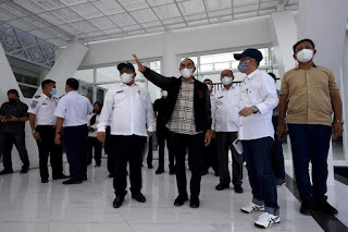 Gubernur Edy Rahmayadi Tinjau Progres Pembangunan Ruang Tunggu bagi Pejabat Negara Bandara Kualanamu