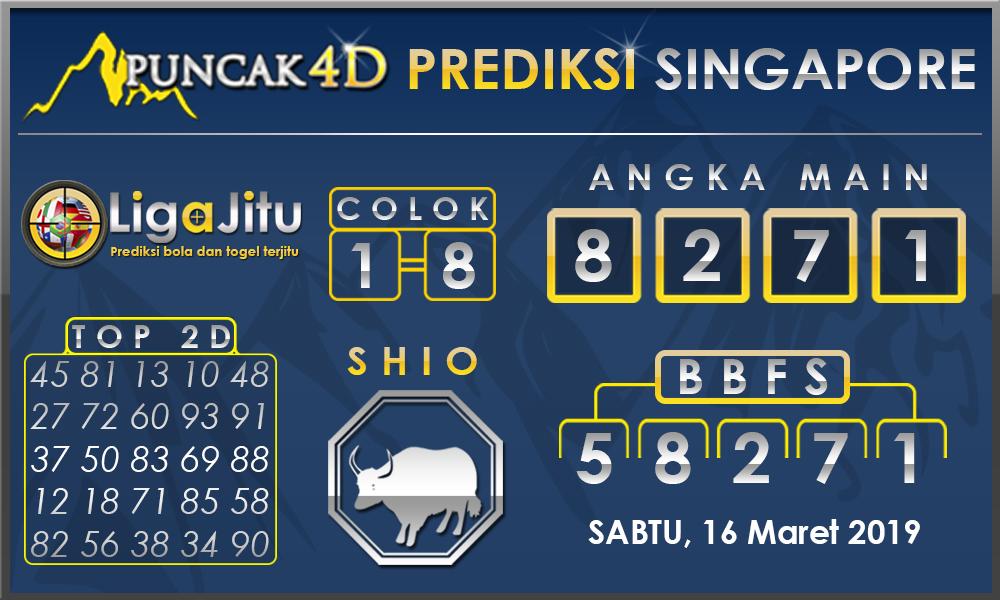 PREDIKSI TOGEL SINGAPORE PUNCAK4D 16 MARET 2019