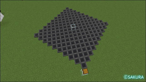 Minecraft 自動小麦農場 耕作地下のホッパー