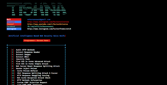tishna web security tool
