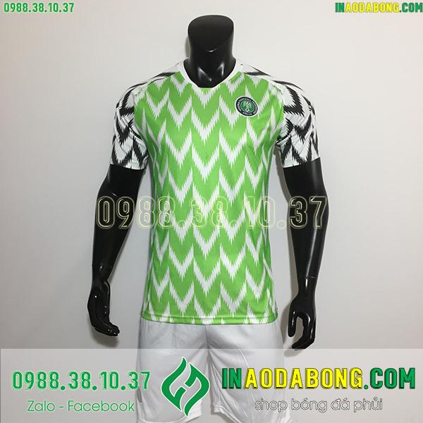 Áo bóng đá đội tuyển Nigieria xanh