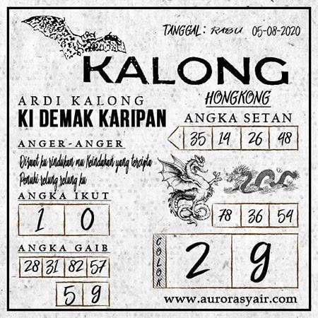 Syair Kalong HK Rabu 05 Agustus 2020