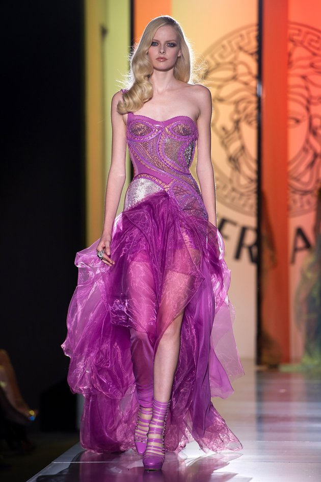 Zest Of Fashion Versace Haute Couture Shines Fall Winter