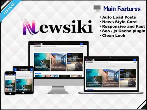 Newsiki - News & Responsive  Blogger Template