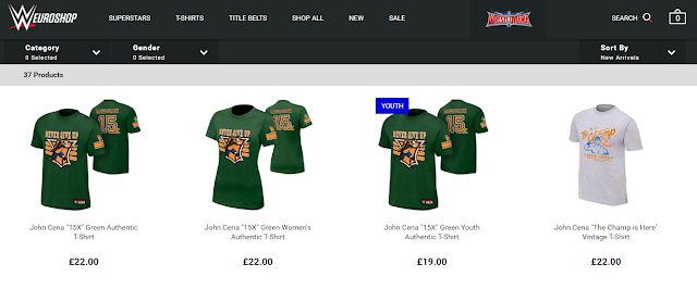 Europe Fewer Wrestling Merch Options
