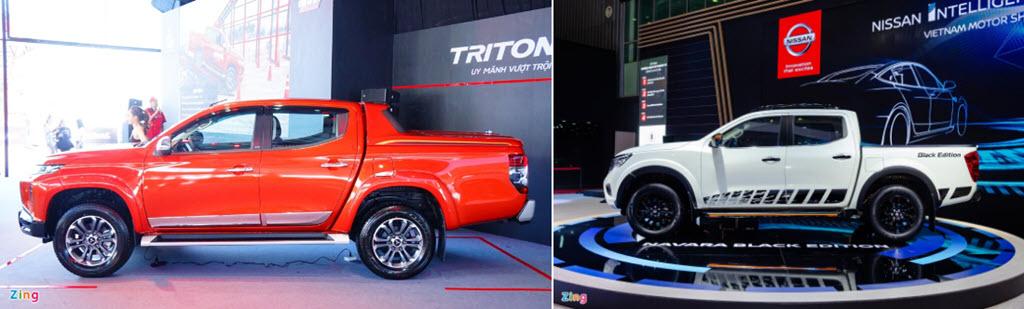 Bán tải Nhật tầm 800 triệu chọn Mitsubishi Triton hay Nissan Navara