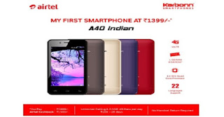 Airtel 4G Pahone Price Karbonn A40 All features, Specification