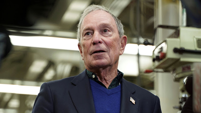 El multimillonario exalcalde de Nueva York Michael Bloomberg presenta su candidatura a las primarias de EE.UU.