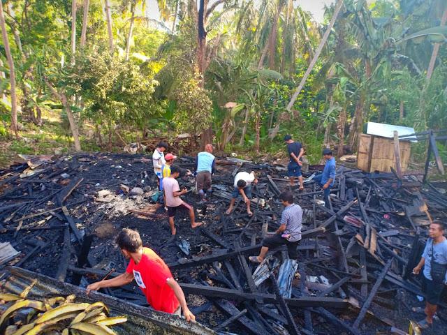 Rumah Program Bedah Hangus Dilalap Api