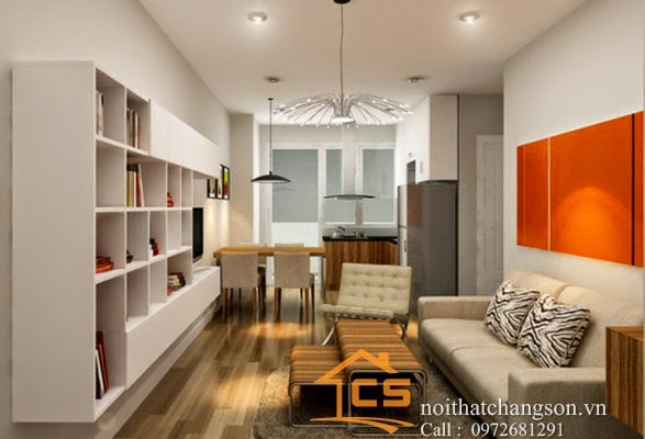 Nội thất chàng sơn thiết kế và thi công nội thất chung cư Lê Văn Lương
