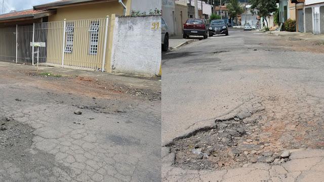 Buracos no bairro São Judas Tadeu geram reclamações