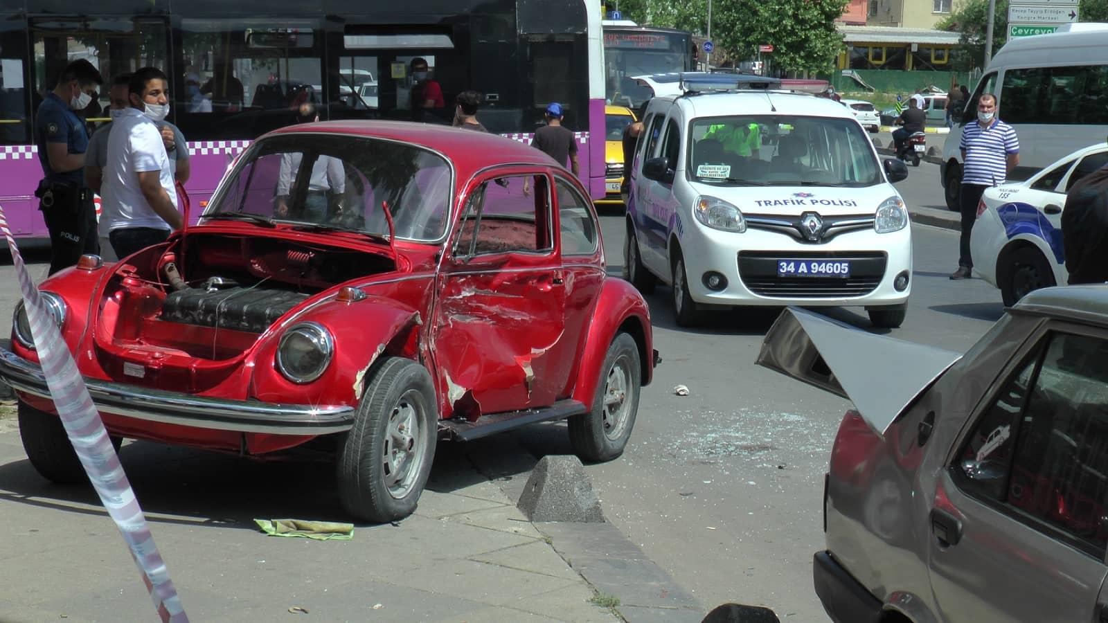 Ehliyetsiz sürücü, zincirleme kazaya sebep oldu!
