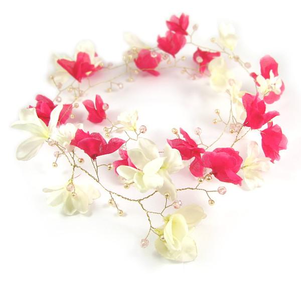 Wianek ślubny - magnoliowy.