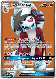 Lycanroc Guardians Rising Pokemon Card
