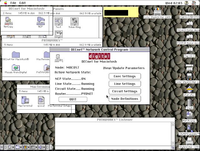 DECnet for Macintosh: Thursby Software TSSNET for Macintosh: Copy node database - Screen 1