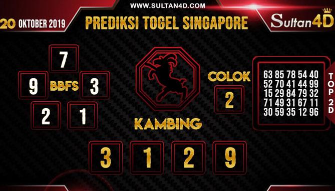 PREDIKSI TOGEL SINGAPORE SULTAN4D 20 OKTOBER 2019
