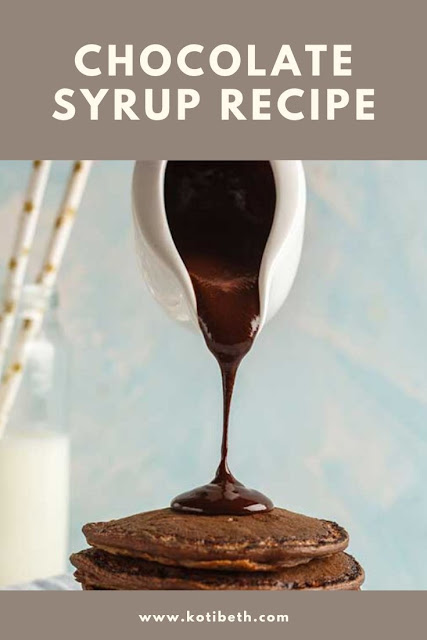 How to make the best chocolate syrup recipe at home. This homemade recipe uses unsweetened cocoa powder. Use this chocolate sauce for pancakes, for taffles, for milk, for ice cream, or as a topping. This easy recipe tastes better than Hersheys and uses only 5 ingredients!  Make with cocoa powder for an easy homemade treat. Can be made sugar free if desired. #chocolate #recipe #homemade #chocolatesyrup