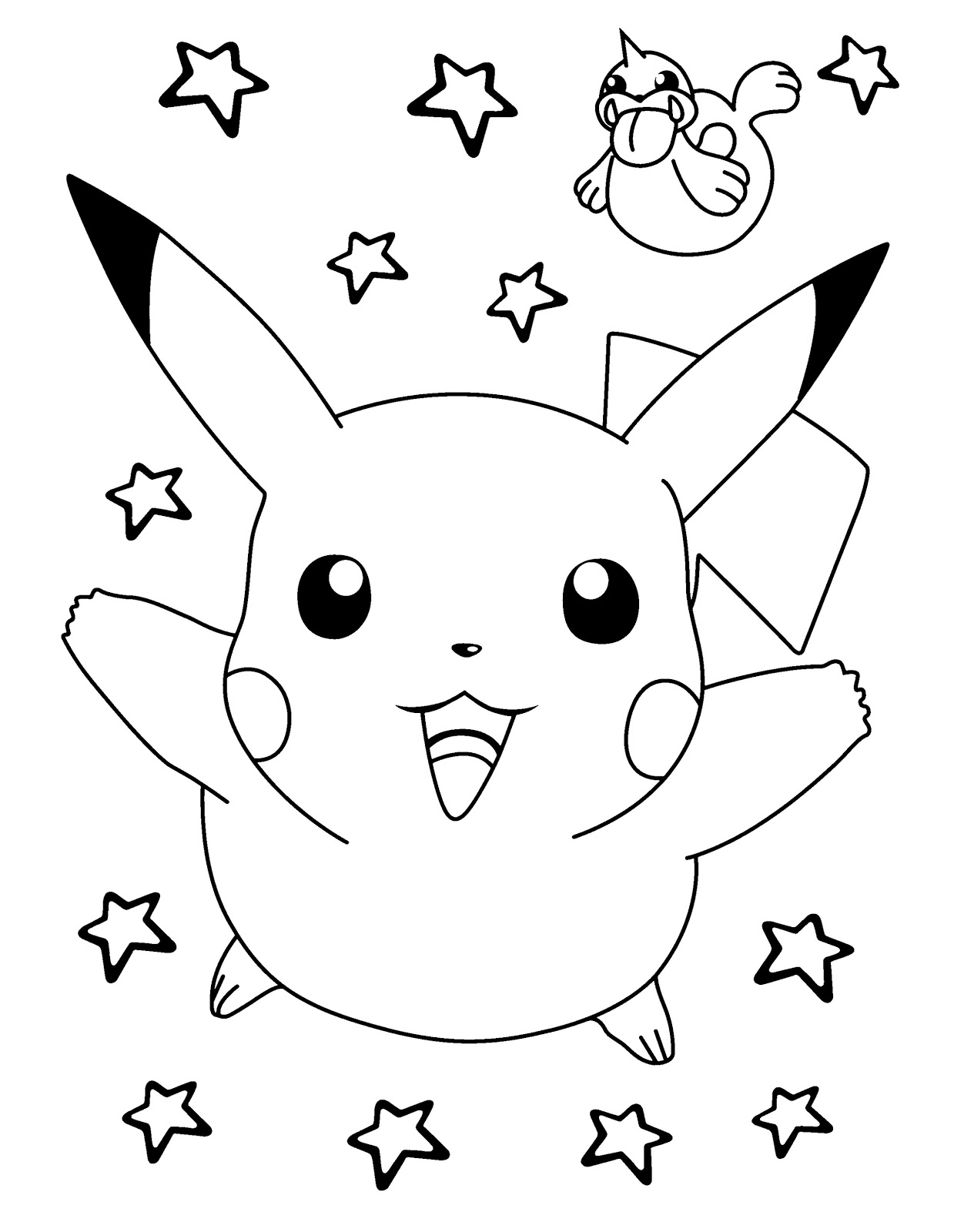 printable pictures of pokemon pikachu characters coloring drawing books for kids to print