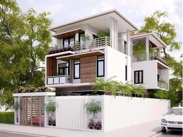 sơn nhà màu trắng hình 5