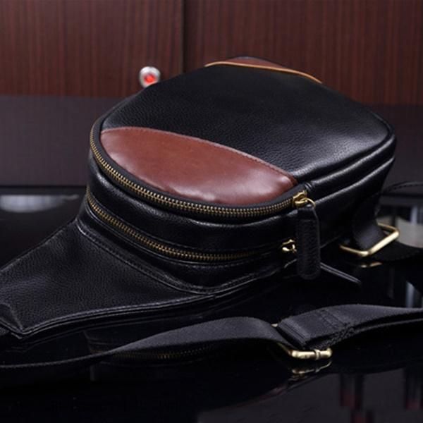 Túi Đeo Ngực Da Phối Màu Cá Tính BAF260