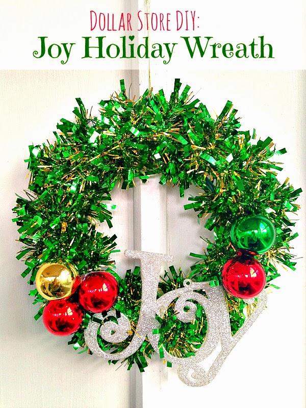 Dollar Store Diy Joy Holiday Wreath Annmarie John