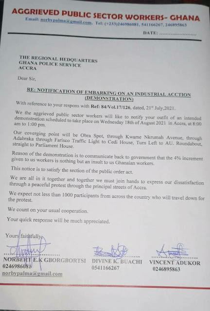 Planned Demonstration in Ghana
