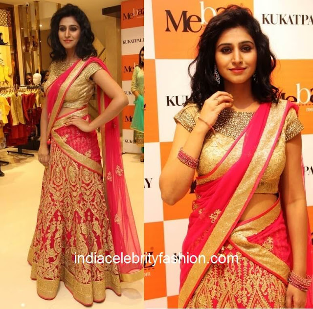Shamili in Mebaz Wedding Half Saree