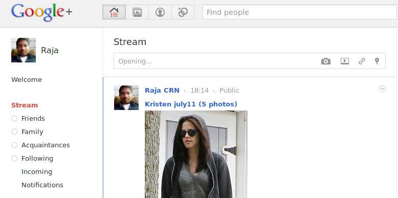 Screenshot How TO Get Facebook and Twitter feeds in Google+