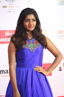 Eesha in Cute Blue Sleevelss Short Frock at Mirchi Music Awards South 2017 ~  Exclusive Celebrities Galleries 024.JPG