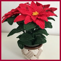 Flor de Pascua a crochet