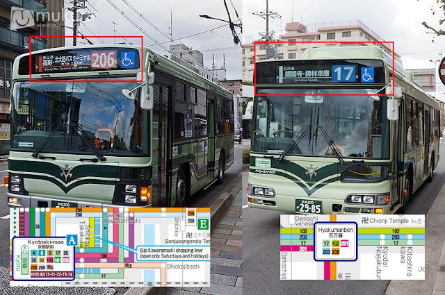 แผนที่รถเมล์เกียวโต (Kyoto Bus)