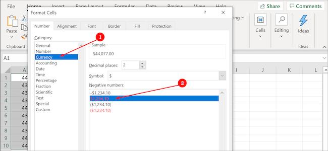 صيغة التاريخ في Excel